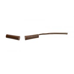 K-2 2E BR Contact magnétique encastré , résistance double FDL de 1,1kOhm- diametre – 7,2 mm, longueur – 32,6 mm (brun)