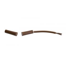 Contact magnétique encastré avec boucle d'autoprotection- diametre – 7,2 mm, longueur – 32,6 mm (brun)